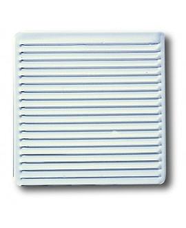 Rejilla para ventilación blanca para empotrar 16,5x16,5 cm.