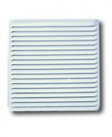 Rejilla para ventilación blanca para empotrar 16,5x16,5 cm. - 1