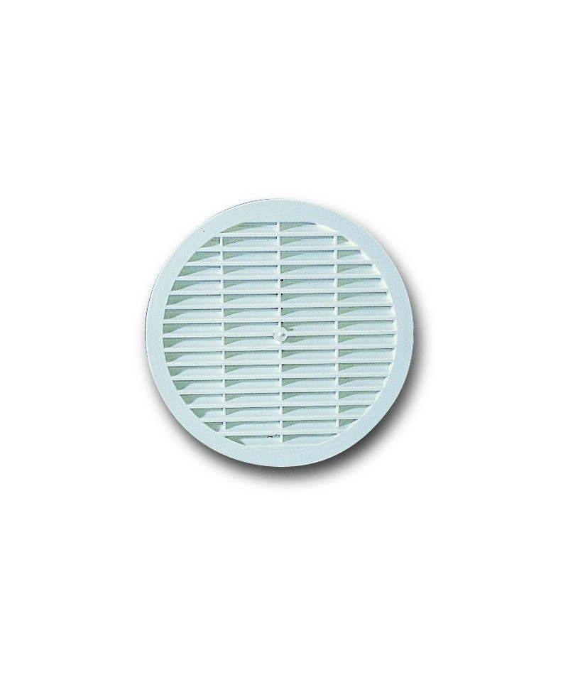 Rejilla para ventilación de plástico blanco redonda diámetro 15 cm. - 1