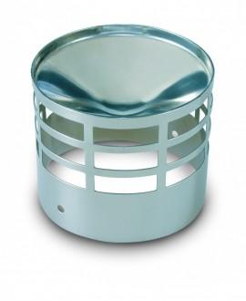 Deflector inox para salida de gases de 80 mm.