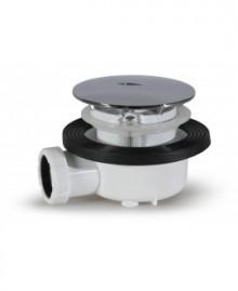 """Válvula plana registrable para ducha de 115 mm. 1 1/2"""" - 1"""