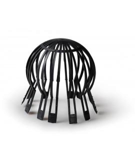 Parahojas en plástico negro de 70 a 125 mm.