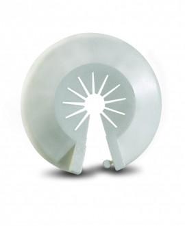 Florón abierto sencillo en plástico blanco de 10 a 22 mm.