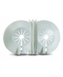 Florón abierto doble en plástico blanco de 10 a 22 mm. - 1