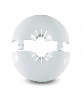 Florón de dos piezas sencillo en plástico blanco de 10 a 22 mm.