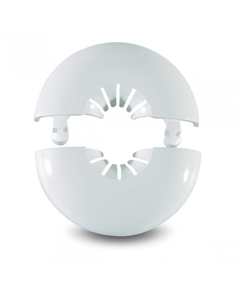 Florón de dos piezas sencillo en plástico blanco de 10 a 22 mm. - 1