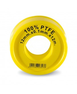 Cinta PTFE 12 mt. X 12 mm. X 0,1 mm.
