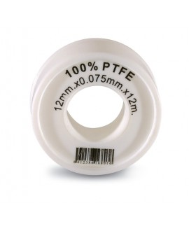 Cinta PTFE 12 mt. X 12 mm. X 0,075 mm.