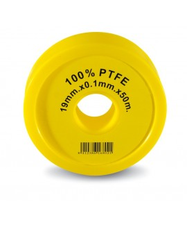 Cinta teflon 50 mt. X 19 mm. X 0,1 mm.