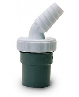 Enlace para goma de salida de lavadora a pvc de 40 mm.