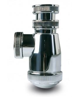 """Sifón botella cromado 1 1/2"""" 40 mm. - 1"""