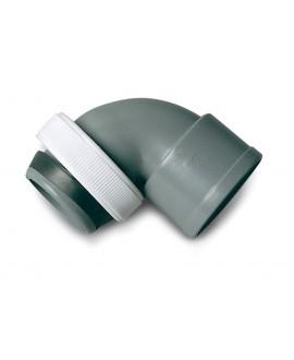 """Codo para union de sifón 1 1/2"""" a pvc de 40 mm."""