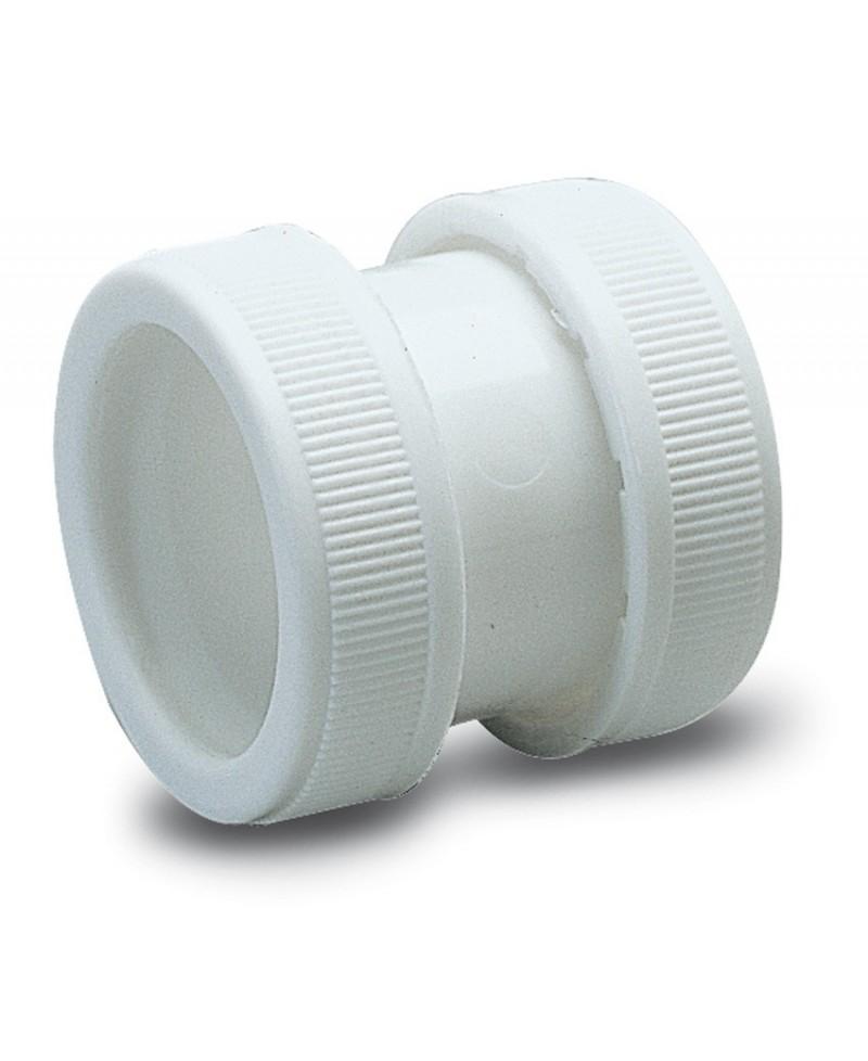 """Enlace para sifón con dos tuercas 1 1/2"""" 40 mm. - 1"""