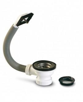 """Válvula de 70 mm. con sobradero para fregadero 1 1/2"""" 40 mm."""