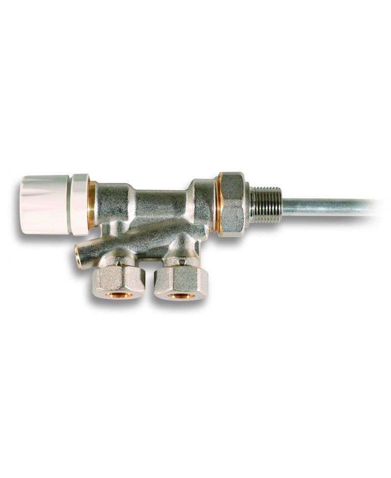 "Válvula monotubo de radiador para tubo de cobre de 15 mm. x 1/2 "" - 1"