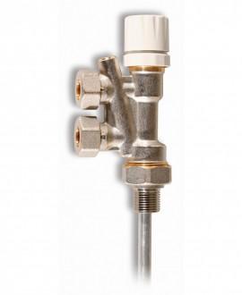 "Válvula monotubo de radiador para tubo multicapa de 16 mm. x 1/2"""