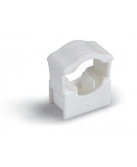 Clip de poliamida con rosca m-6 para tubos desde 12 hasta 22 mm.
