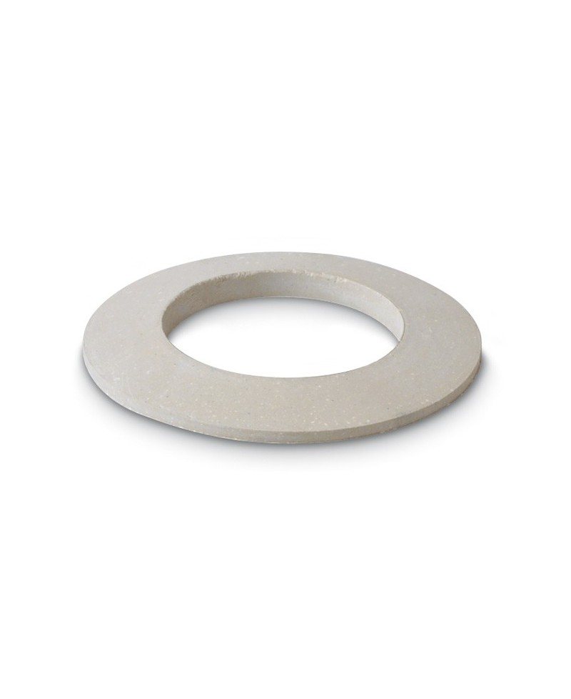 Arandela semiplana de goma blanca para bañera - 1