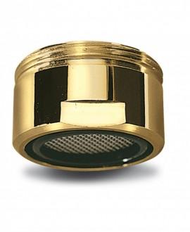 Aireador en latón dorado con rejilla inox para bañera m-28