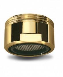 Aireador en latón dorado con rejilla inox para bañera m-28 - 1