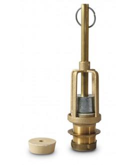 Descargador de latón para cisterna alta de inodoro