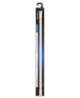 Barra blanca para cortina de ducha extensible de 75 a 125 cm.