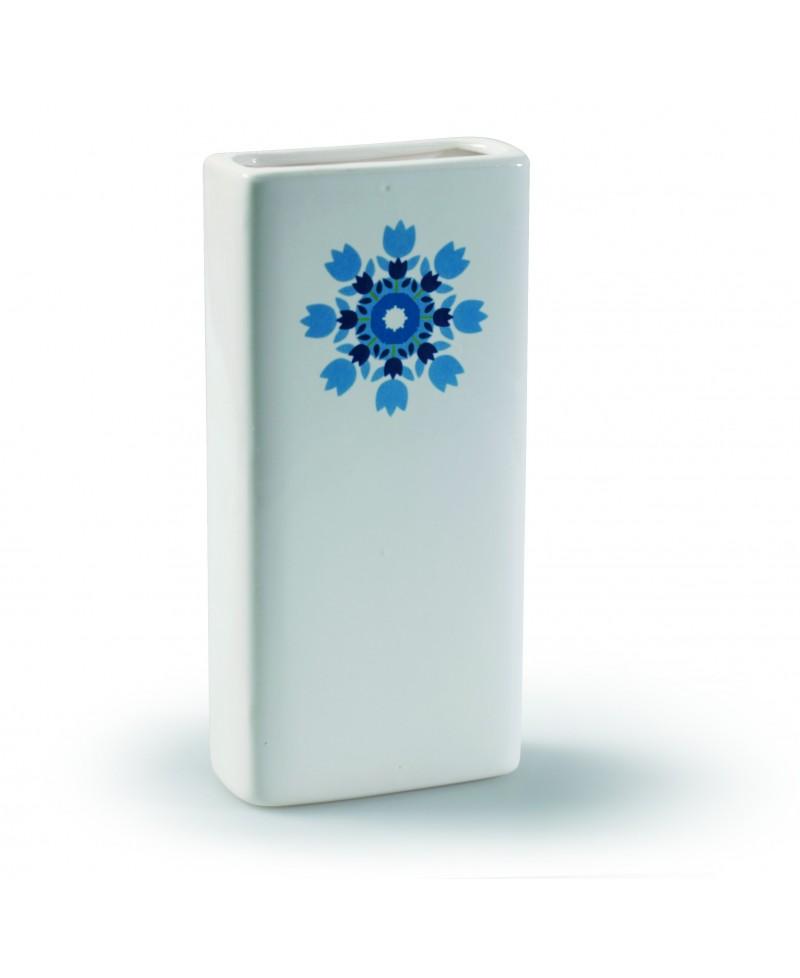Humidificador blanco con flores surtidas para radiador - 1