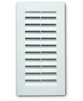 Rejilla para ventilación de plástico blanco tipo sun de 9x21 cm.