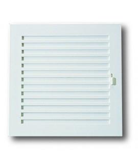 Rejilla para ventilación en plástico blanco con cierre