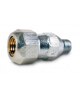 Racor para tubo acero con rosca macho