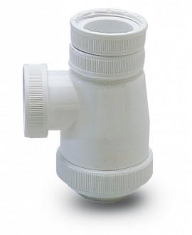 Sifón botella corto en polipropileno