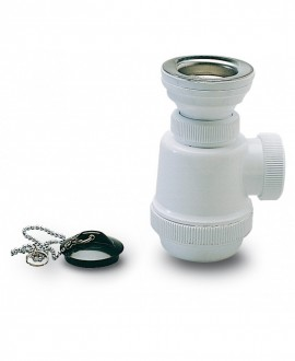 Sifón botella corto con válvula