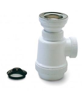 Sifón botella con válvula para fregadero