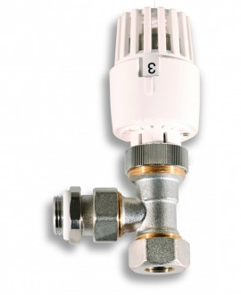 Válvula termostática de radiador para tubo de cobre