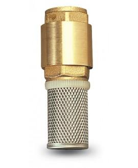 Válvula con filtro inox para pie de bomba