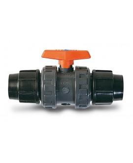 Válvula para tubo de polietileno
