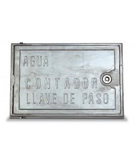 Puerta para contador en aluminio
