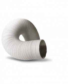 Tubo de aluminio corrugado blanco para extracción