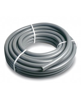Tubo de pvc flexible gris - rollo de 25 mt. -