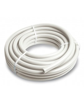 Tubo de pvc flexible blanco - rollo de 25 mt. -