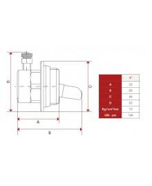 "Tapón con purgador para radiador de 1"" - 4"