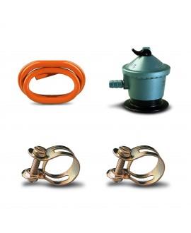 Pack regulador y tubo gas butano