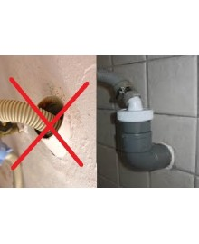Enlace para goma de salida de lavadora a pvc de 40 mm. - 2