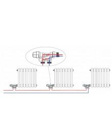 "Válvula monotubo de radiador para tubo de cobre de 15 mm. x 1/2 "" - 3"