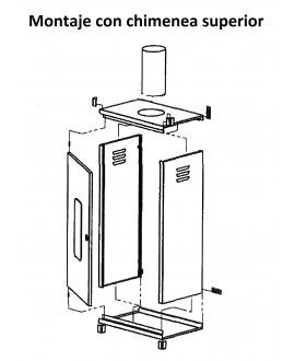 Armario universal para caldera de 100 x 55 x 44 cm.