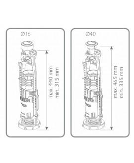 Descargador de ahorro de agua con doble pulsador para cisterna baja de inodoro