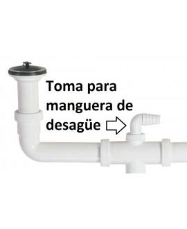 """Sifón botella doble con válvulas de 70 mm. para fregadero 1 1/2"""" 40 mm."""