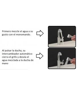 Grifo monomando para lavabo con ducha sanitaria