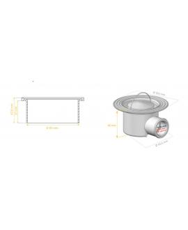 Sumidero con rejilla premium para ducha con lona técnica soldada de 150 x 200 cm.