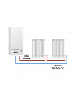 """Válvula monotubo termostática de radiador para tubo multicapa de 16 mm. x 1/2"""""""